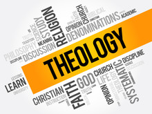Theology Word Cloud Collage, R...