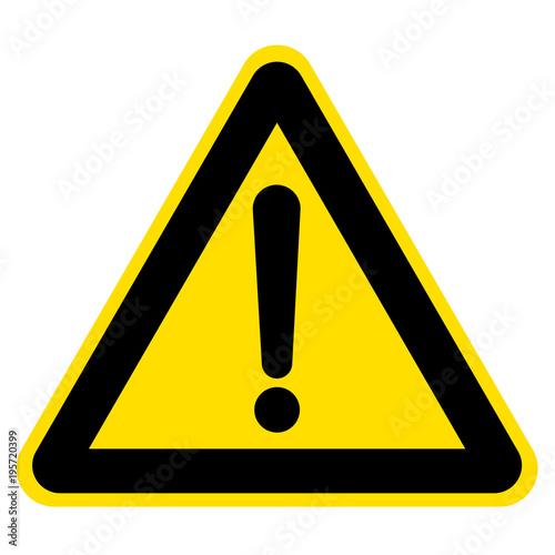 Obraz Znak ostrzegawczy ilustracja wektorowa - fototapety do salonu