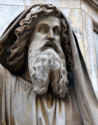 Statue Ezechiels am Fuße der Säule der unbefleckten Empfängnis (Colonna dell' Im Poster