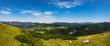 Panaoramaaussicht vom Unterberghorn zu den Chiemgauer Alpen und dem Chiemsee
