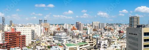 Fototapeta premium Naha pejzażu miejskiego panorama, Okinawa, Japonia