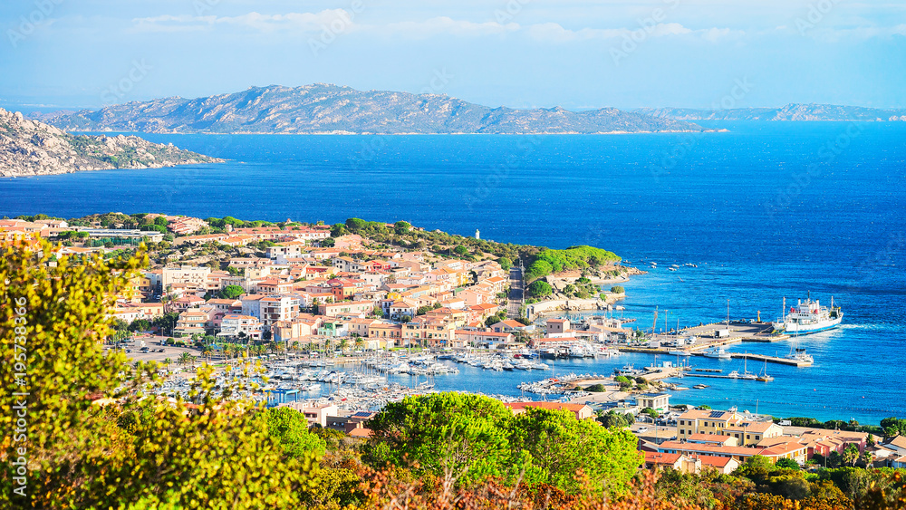 Photo  Landscape of Palau Maddalena Island in Sardinia