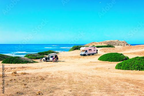 Photo Car and Camper at Capo Pecora Mediterranean Sardinia