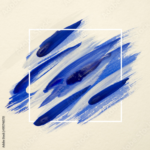 Art logo brush painted watercolor on paper abstract background