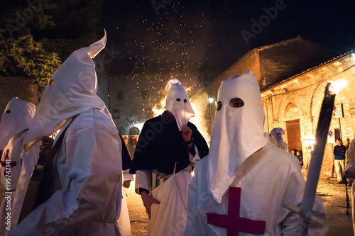 Valokuva  Gubbio Gubbio, Italy, the traditional procession of Friday of Easter week