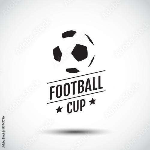 logo Design, symbolic, Flat Design, Graphic Illustration, Football, Soccer, Vector Illustration. Wall mural