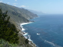 View Of The Pacific Ocean Along Highway 1 In California Just South Of Big Sur
