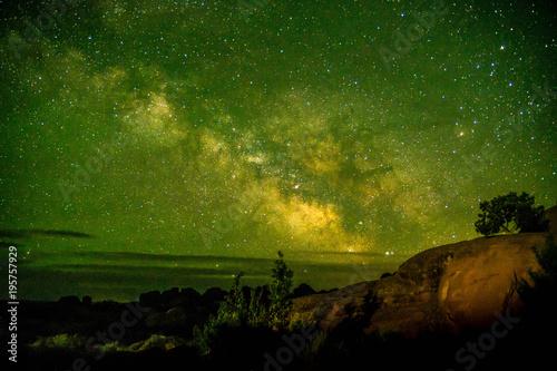 Valokuva  Beautiful Milky way shot at Arches National Park Utah USA