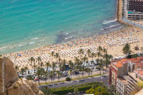 Fotografia  Aerial view of Postiguet beach, Alicante, Spain