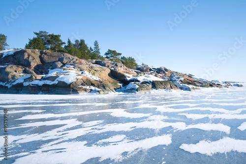 In de dag Noord Europa A sunny February day off the coast of the Hanko Peninsula. Finland