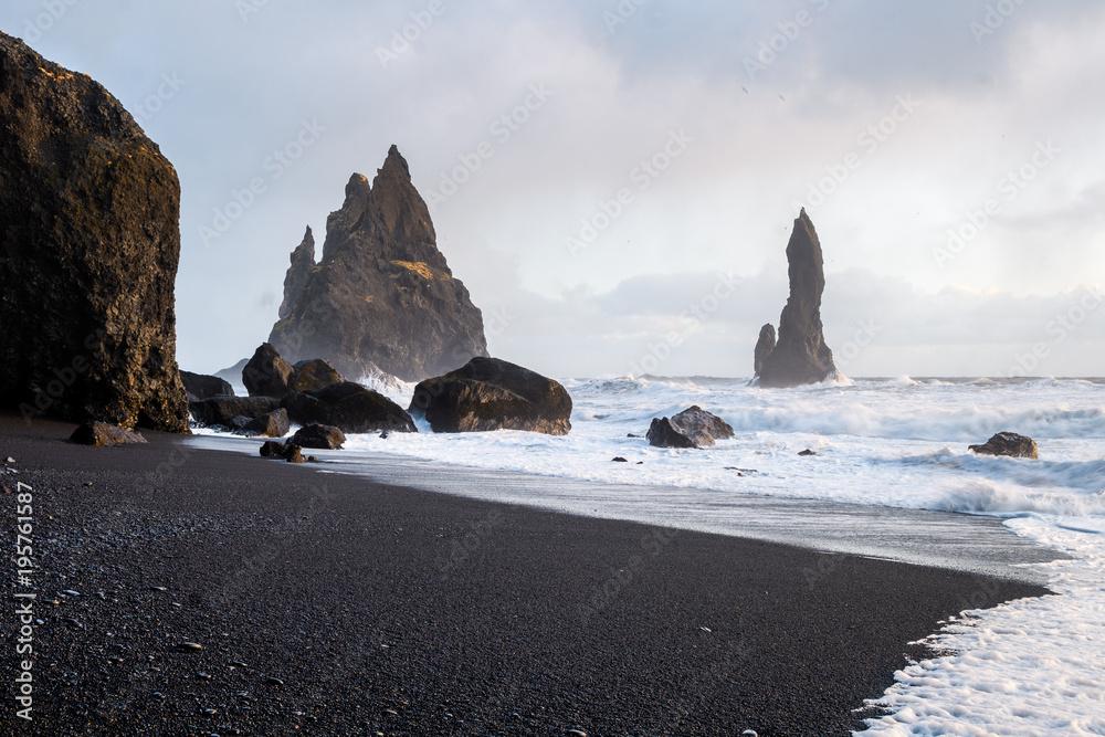 reynisfjara volcanic beach, iceland
