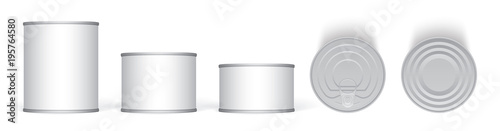Fotomural Tin can mock-up vector template