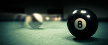 Pool Game. Billiard Balls On G...