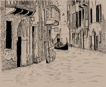 Venetian Canal And Unique Gond...