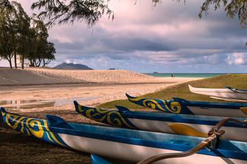 wysuwać kajaki na Hawajach