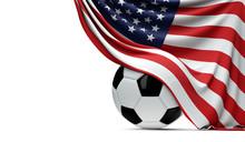USA National Flag Draped Over ...