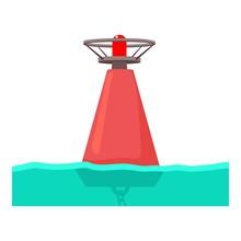 Buoy Icon, Cartoon Style
