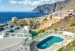Los Gigantes- view with tropical pool