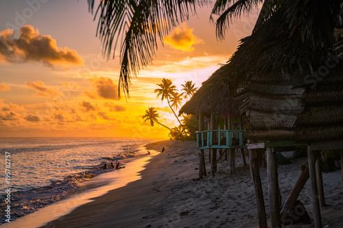 sunset in samoa Fototapet