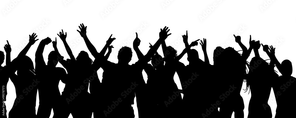 Fototapety, obrazy: Party people – stock vector