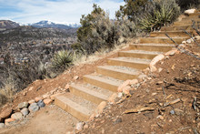 Wooden Steps On A Trail In Dur...