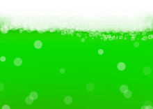 Green Beer Background For Sain...