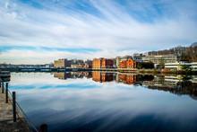 Westport Connecticut Downtown River Bridge City