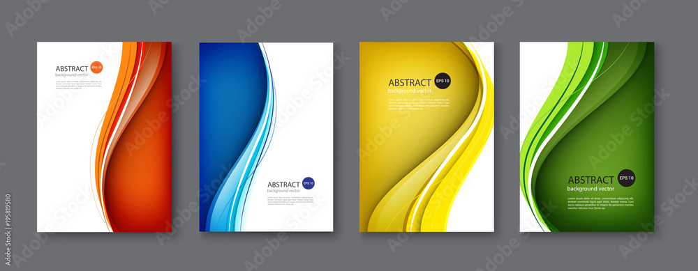 Fototapeta Line abstract set background. Vector illustration.
