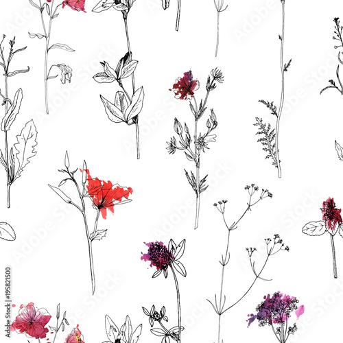 bezszwowy-wzor-z-rysunkowymi-ziele-i-kwiatami