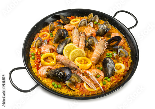 Paella, gastronomía española