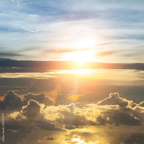 Fototapeta Beautiful blue sky obraz na płótnie