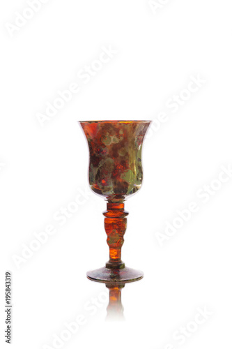 Vintage wineglass isolated on white background