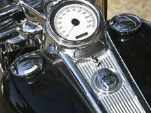 Harley Davidson  Motorcycle T\tank And Gauges With Shiny Chrome