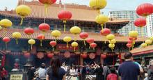 Chinese Lanterns In Wong Tai Sin Temple