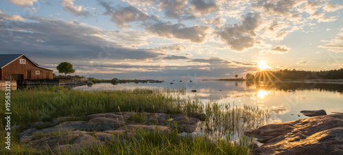 Poster Cote Rocky east coast at sea archipelago in Sweden