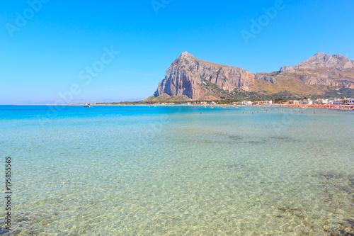 Spoed Foto op Canvas Mediterraans Europa San Vito lo Capo beach, Sicily, Italy