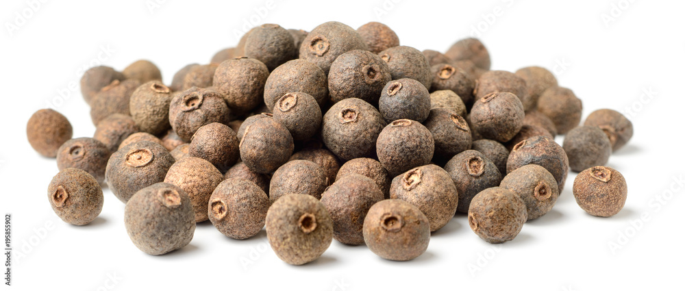 Fototapety, obrazy: dried allspice isolated on white background