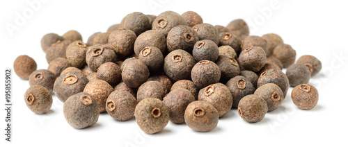 dried allspice isolated on white background Canvas Print