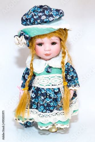 Spoed Foto op Canvas Boerderij Toy doll made of fabric and safe plastic for children's games
