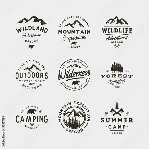 set of vintage wilderness logos Fototapeta