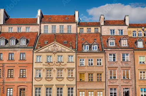 Buildings Of The Warsaw Old Town