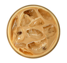 Top View Of Coffee Latte Cappu...