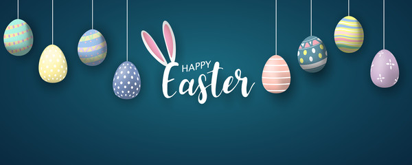Happy Easter background. Ve...