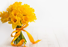 Easter Bouquet Of Yellow Daffo...