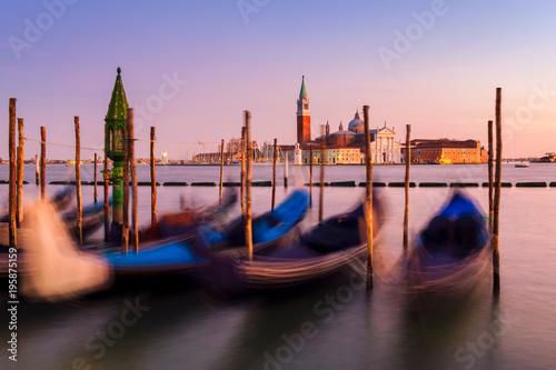 Spoed Foto op Canvas Sunset in Venice. Italy