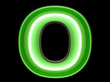 Neon Green Light Alphabet Char...