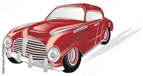 czerwony-samochod-stary-retro-rzadkosc-antyczny