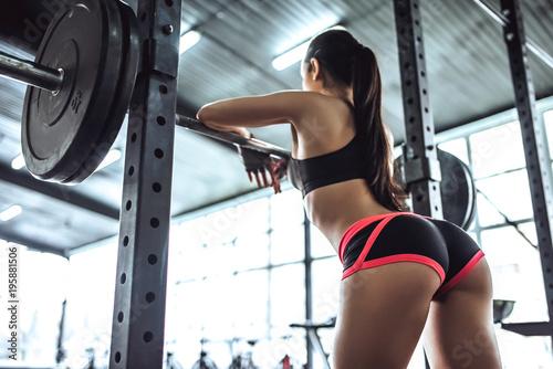 Fotografie, Obraz  Sporty woman in gym