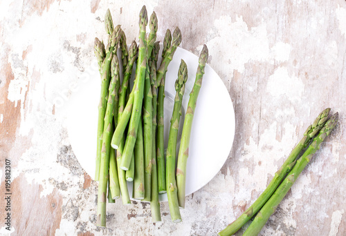 Poster Muguet de mai Fresh green asaparagus