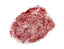 Bloody Fingerprint Isolated On...